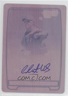 2012 Bowman Draft Picks & Prospects Chrome Prospects Certified Autographs Printing Plate Magenta #BCA-CV - Christian Villanueva /1