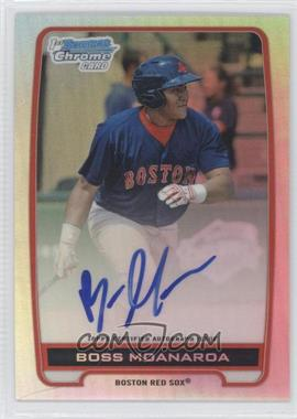 2012 Bowman Draft Picks & Prospects Chrome Prospects Certified Autographs Refractor #BCA-BM - Boss Moanaroa /500