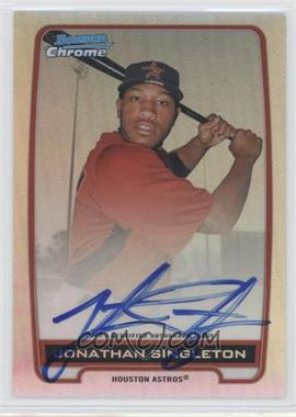 2012 Bowman Draft Picks & Prospects Chrome Prospects Certified Autographs Refractor #BCA-JS - Jonathan Singleton /500