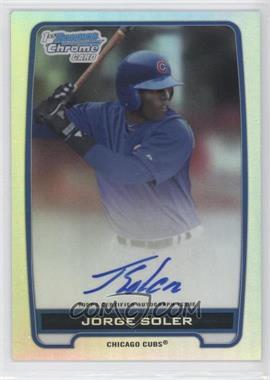 2012 Bowman Draft Picks & Prospects Chrome Prospects Certified Autographs Refractor #BCA-JSO - Jorge Soler /500