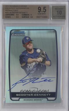 2012 Bowman Draft Picks & Prospects Chrome Prospects Certified Autographs Refractor #BCA-SG - Scooter Gennett /500 [BGS 9.5]