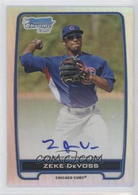 2012 Bowman Draft Picks & Prospects Chrome Prospects Certified Autographs Refractor #BCA-ZD - Zeke DeVoss /500