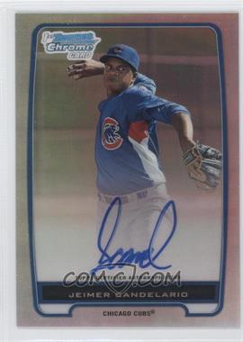 2012 Bowman Draft Picks & Prospects Chrome Prospects Certified Autographs Refractor #BCP20 - Jeimer Candelario /500