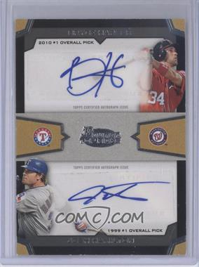 2012 Bowman Draft Picks & Prospects Dual Top 10 Picks Authentic Autographs [Autographed] #TPA-HH - Bryce Harper, Josh Hamilton /25