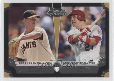 2012 Bowman Draft Picks & Prospects Dual Top 10 Picks #TP-CT - Matt Cain, Mike Trout