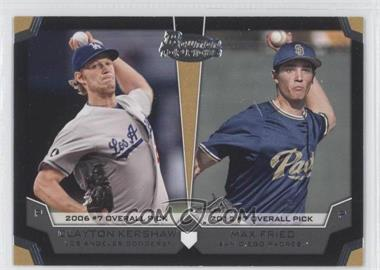 2012 Bowman Draft Picks & Prospects Dual Top 10 Picks #TP-FL - Clayton Kershaw, Max Fried