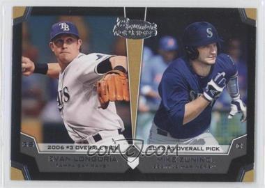 2012 Bowman Draft Picks & Prospects Dual Top 10 Picks #TP-LZ - Evan Longoria, Mike Zunino