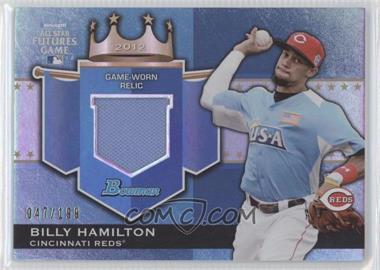 2012 Bowman Draft Picks & Prospects Futures Game Relics #FGR-BH - Billy Hamilton /199