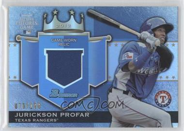 2012 Bowman Draft Picks & Prospects Futures Game Relics #FGR-JP - Jurickson Profar /199