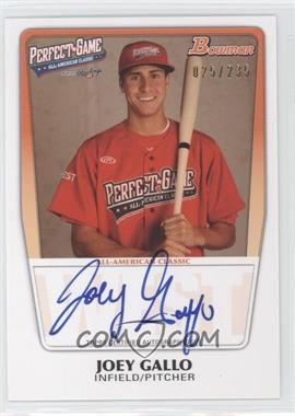 2012 Bowman Draft Picks & Prospects Perfect Game All-American Autograph [Autographed] #AAC-JG - Joey Gallo /235
