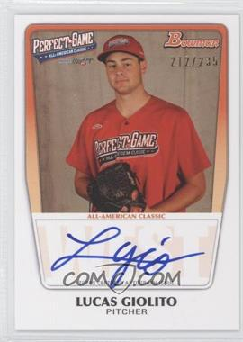 2012 Bowman Draft Picks & Prospects Perfect Game All-American Autograph [Autographed] #AAC-LG - Lucas Giolito /235