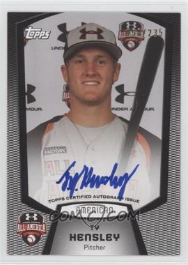 2012 Bowman Draft Picks & Prospects Under Armour All-American Autograph [Autographed] #UA-TH - Ty Hensley /235