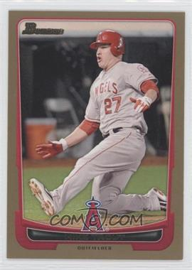 2012 Bowman Gold Border #34 - Mike Trout