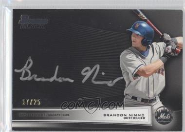 2012 Bowman Multi-Product Insert Bowman Black Collection [Autographed] #BBC-BN - Brandon Nimmo /25