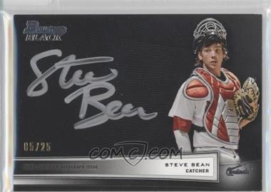 2012 Bowman Multi-Product Insert Bowman Black Collection [Autographed] #BBC-SB - Steve Bean /25