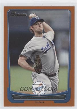 2012 Bowman Orange Border #151 - Clayton Kershaw /250