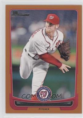 2012 Bowman Orange Border #169 - Stephen Strasburg /250