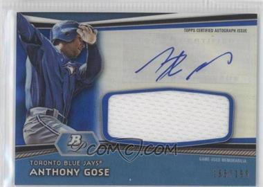 2012 Bowman Platinum - Autographed Jumbo Relics - Blue Refractor #AJR-AG - Anthony Gose /199