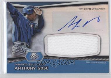 2012 Bowman Platinum - Autographed Jumbo Relics #AJR-AG - Anthony Gose