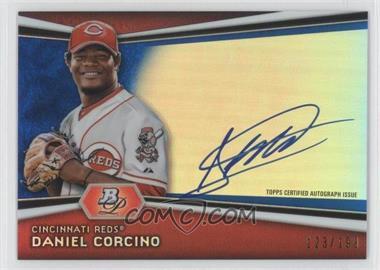 2012 Bowman Platinum - Autographed Prospects - Blue Refractor #AP-DC - Daniel Corcino /199