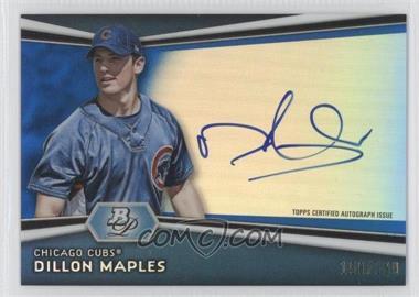 2012 Bowman Platinum - Autographed Prospects - Blue Refractor #AP-DM - Dillon Maples /199