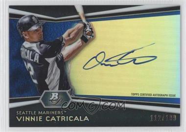 2012 Bowman Platinum - Autographed Prospects - Blue Refractor #AP-VC - Vinnie Catricala /199