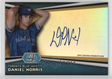 2012 Bowman Platinum - Autographed Prospects - Gold Refractor #AP-DN - Daniel Norris /50