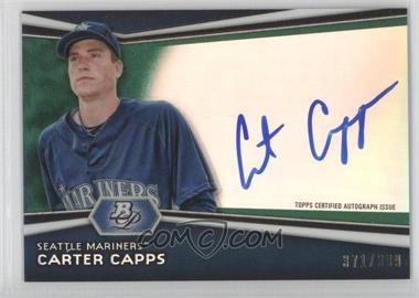 2012 Bowman Platinum - Autographed Prospects - Green Refractor #AP-CC - Carter Capps /399