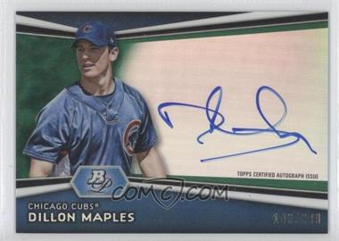 2012 Bowman Platinum - Autographed Prospects - Green Refractor #AP-DM - Dillon Maples /399