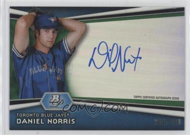 2012 Bowman Platinum - Autographed Prospects - Green Refractor #AP-DN - Daniel Norris /399