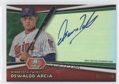 2012 Bowman Platinum - Autographed Prospects - Green Refractor #AP-OA - Oswaldo Arcia /399