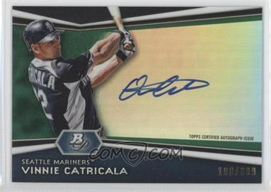 2012 Bowman Platinum - Autographed Prospects - Green Refractor #AP-VC - Vinnie Catricala /399