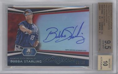 2012 Bowman Platinum - Autographed Prospects - Red Refractor #AP-BS - Bubba Starling /25 [BGS 9.5]