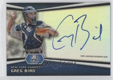 2012 Bowman Platinum - Autographed Prospects #AP-GB - Greg Bird