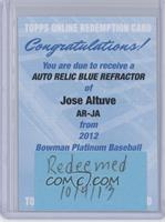 Jose Altuve /199 [REDEMPTION Being Redeemed]