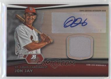 2012 Bowman Platinum - Autographed Relic #AR-JJ - Jon Jay