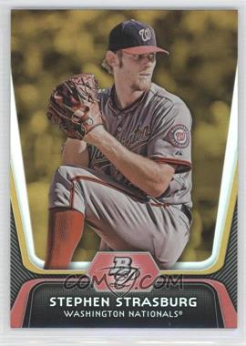 2012 Bowman Platinum - [Base] - Gold #80 - Stephen Strasburg