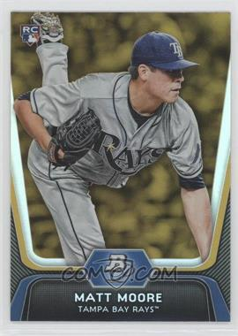 2012 Bowman Platinum - [Base] - Gold #99 - Matt Moore