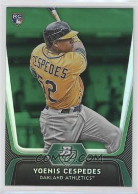 2012 Bowman Platinum - [Base] - Green #21 - Yoenis Cespedes