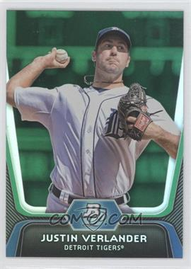2012 Bowman Platinum - [Base] - Green #37 - Justin Verlander