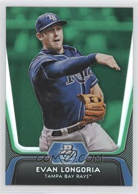 2012 Bowman Platinum - [Base] - Green #54 - Evan Longoria