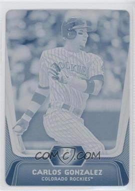 2012 Bowman Platinum - [Base] - Printing Plate Cyan #10 - Carlos Gonzalez /1