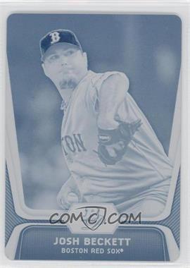 2012 Bowman Platinum - [Base] - Printing Plate Cyan #50 - Josh Beckett /1