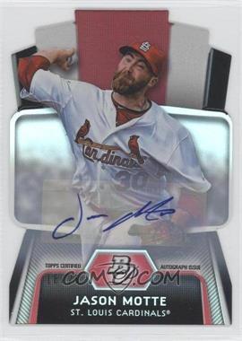 2012 Bowman Platinum - Cutting Edge Stars Die-Cut - Autographs [Autographed] #CES-JM - Jason Motte /25