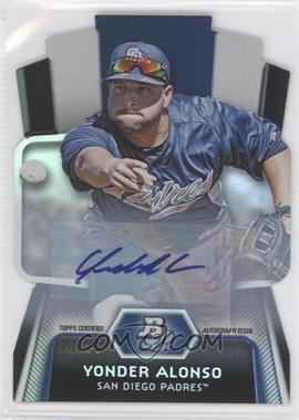 2012 Bowman Platinum - Cutting Edge Stars Die-Cut - Autographs [Autographed] #CES-YA - Yonder Alonso /25