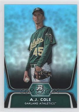 2012 Bowman Platinum - National Convention Wrapper Redemption Prospects - Platinum Blue #BPP52 - A.J. Cole /499