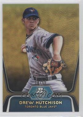 2012 Bowman Platinum - Prospects - Gold Refractor #BPP50 - Drew Hutchison /50