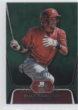 2012 Bowman Platinum - Prospects - Green Refractor #BPP16 - Billy Hamilton /399
