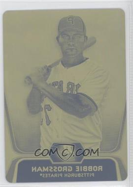2012 Bowman Platinum - Prospects - Printing Plate Yellow #BPP14 - Robbie Grossman /1