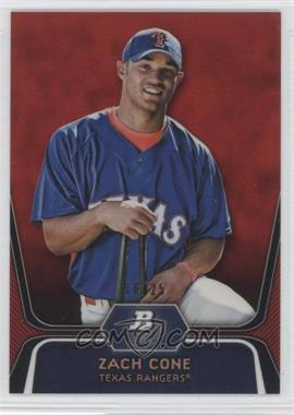 2012 Bowman Platinum - Prospects - Red Refractor #BPP71 - Zach Cone /25
